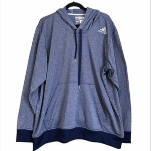 Adidas Ultimate Hoodie XXL Blue Pullover Active